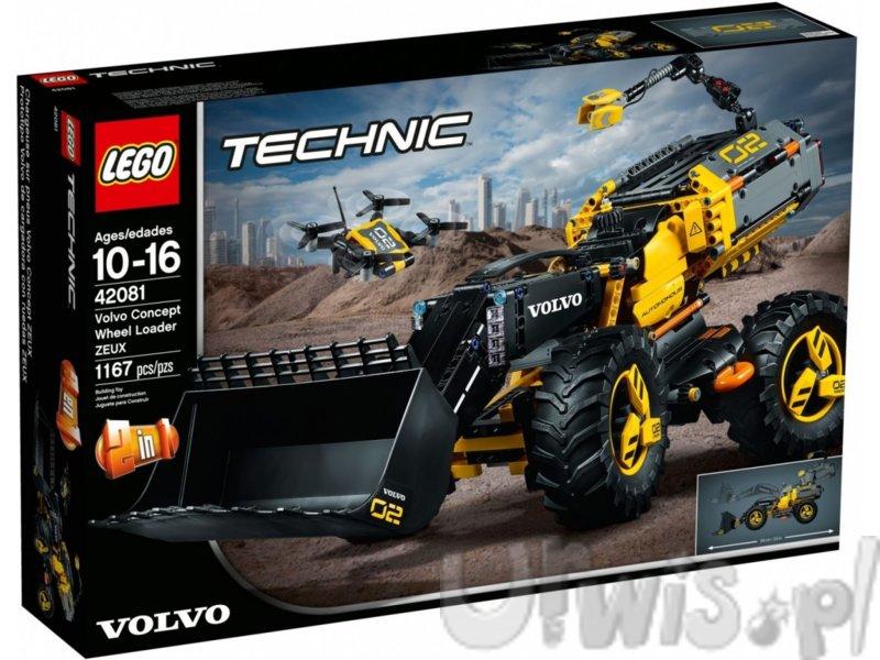 Klocki Lego Technic Volvo ładowarka kołowa ZEUX 42081 - darmowa dostawa!