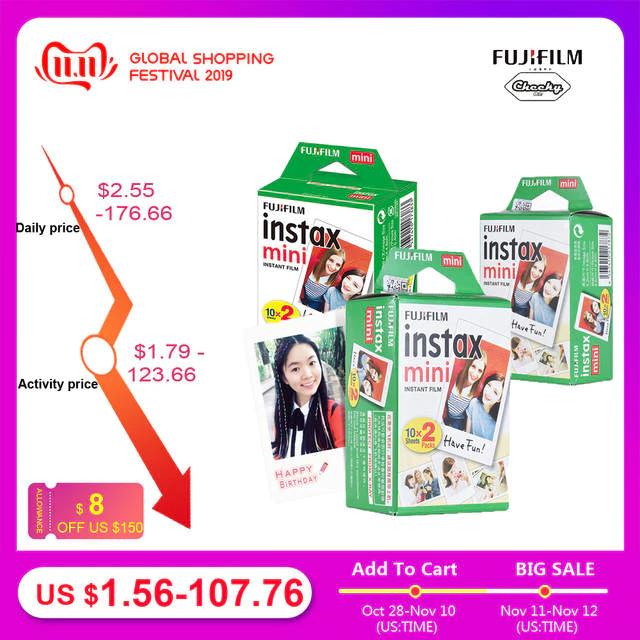 Fujifilm Instax Mini Film 8, 9, arkusz fotograficzny do aparatu Instax Mini7s, 50s, 90