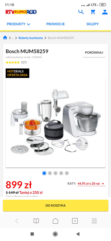Robot kuchenny Bosch MUM58259