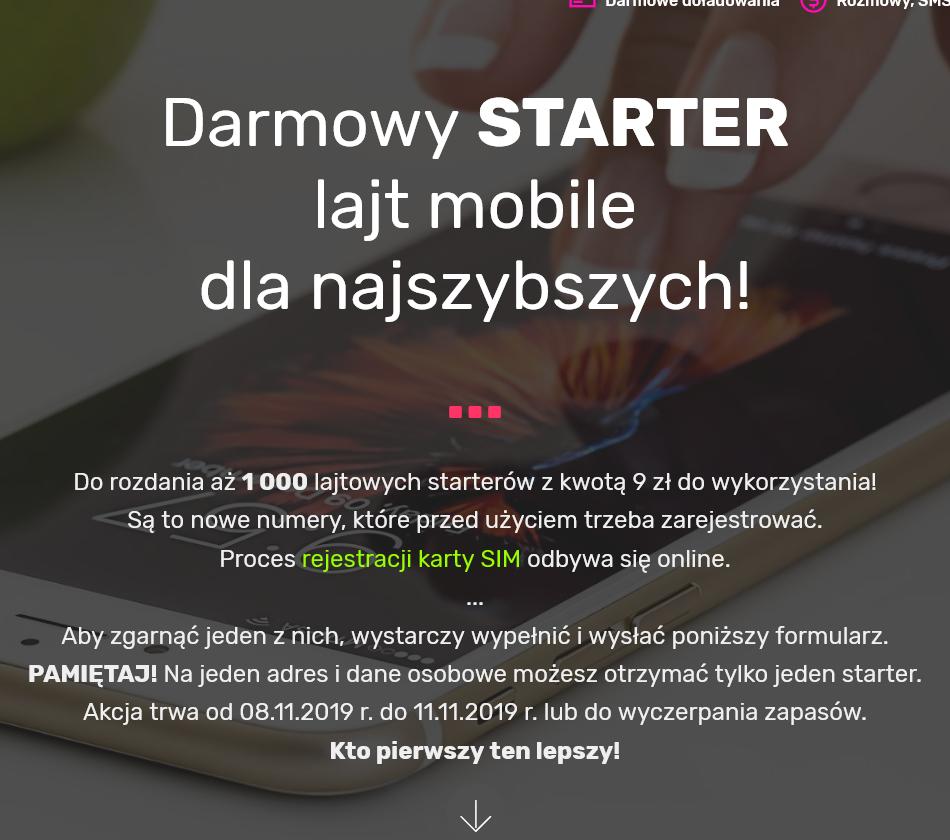 lajt mobile - DARMOWY STARTER. Nowa pula