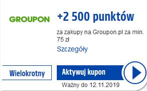 2500 pkt (25 zł) Payback z Groupon, MWZ 75 zł