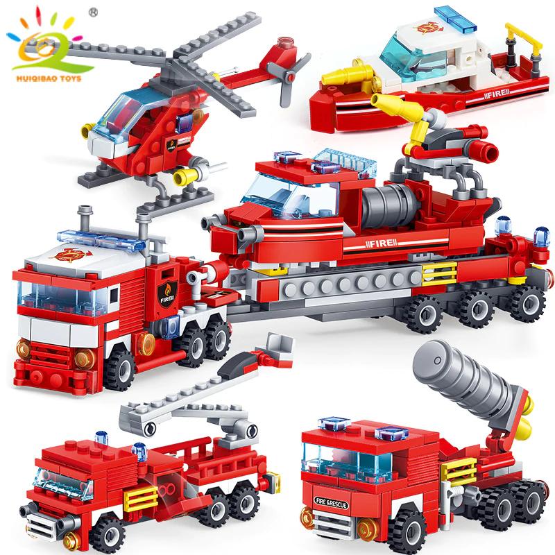 Zestaw klocków - pojazdy strażackie(348 klocków) za ~30,70zł, samolot wojskowy (559 klocków) za ~67zł @ AliExpress deals