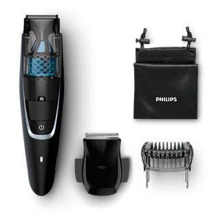 Trymer z systemem zasysania ściętego zarostu - Philips Beardtrimmer series 7000