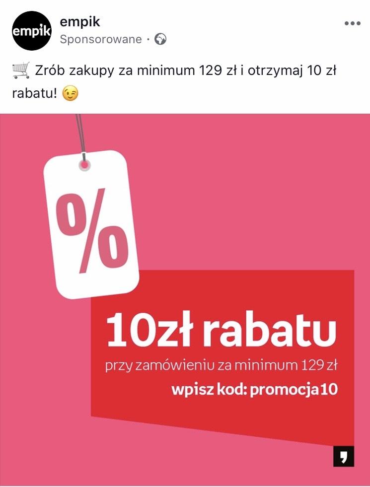 Rabat 10 zł na Empik.com (MWZ 129zł)