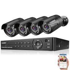 Zestaw do monitoringu FLOUREON 8CH 1080P + 4 kamery zewnętrzne 3000TVL 1080P 2.0MP
