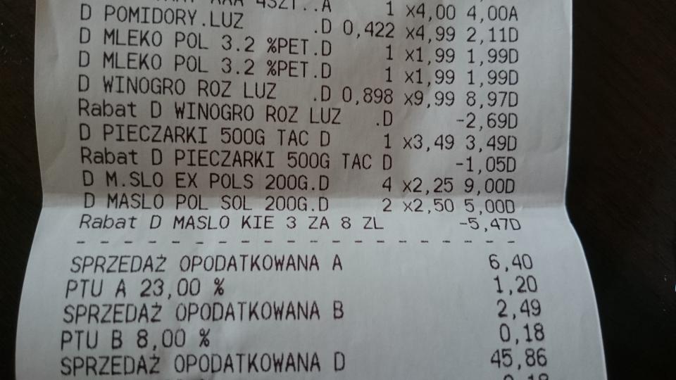Masło Polskie za 42 grosze @Tesco Bytom