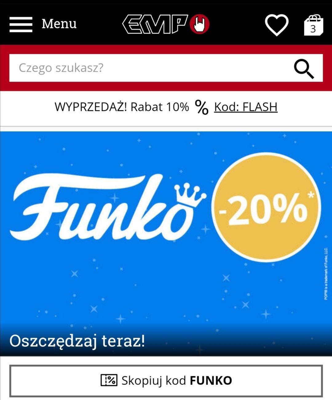 -20% na figurki Funko POP Vinyl w EMP
