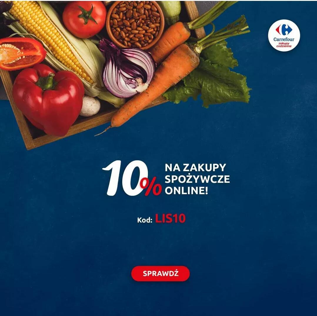 10% zniżki na zakupy online w Carrefour