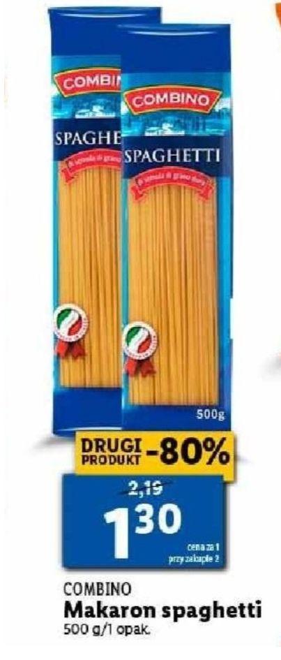 Makaron spaghetti. Cena przy zakupie 2 sztuk. Lidl