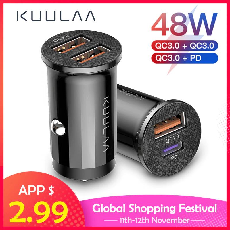 Ładowarka samochodowa USB KUULAA