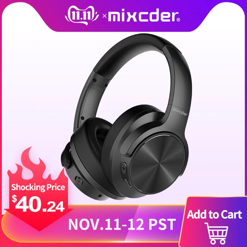 Bezprzewodowe słuchawki Bluetooth Mixcder E9 z redukcją szumów