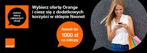 Orange + bonus Neonet max do 1000 zł