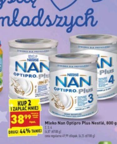 BIEDRONKA Mleko Nan Optipro Plus 800g. 2,3,4