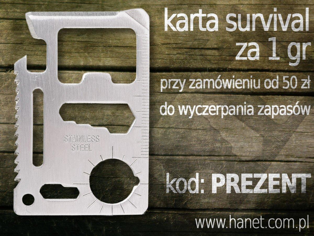 Karta Survival za 1 gr w sklepie Hanet.com.pl