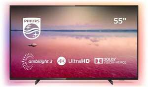 """Telewizor 55"""" Philips 55PUS6704, Ambilight, HDR10+, 4rdzenie, 60Hz, 1200 PPI, Smart Saphi, DirectLed, 350cd, Dolby Atmos"""
