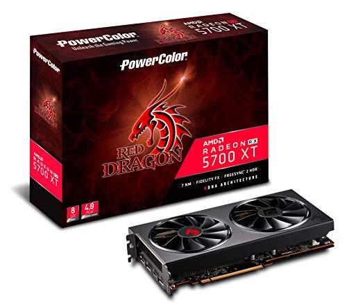 AMD Powercolor Red Dragon RX 5700 XT 8GB karta graficzna amazon.es