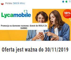 LycaMobile Dzwoń do Rosji za DARMO