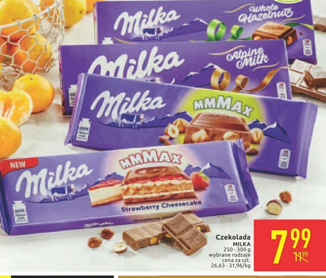 Duża czekolada Milka Carrefour za 7,99zl, wszystkie produkty Milka - 30%