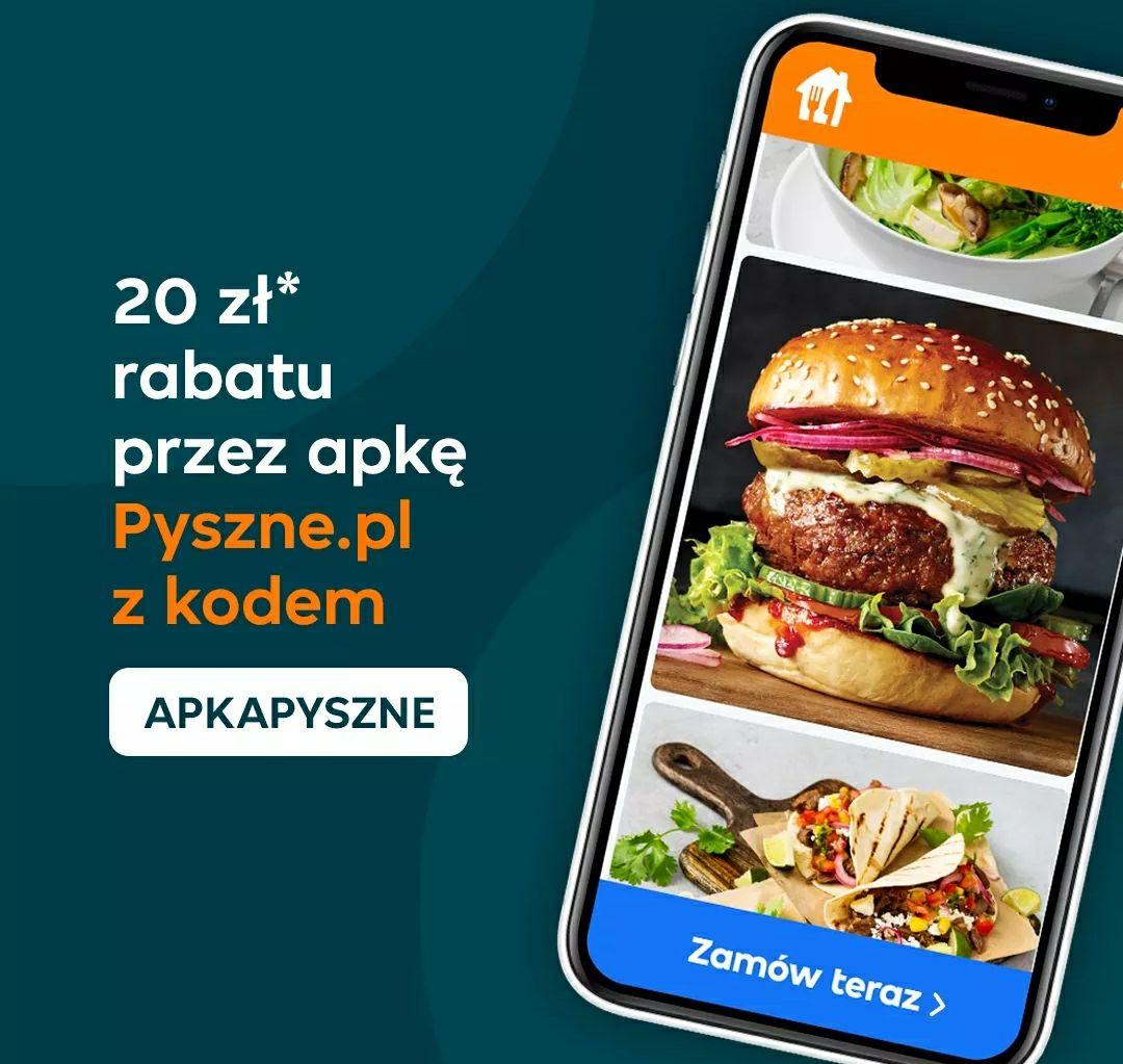 Pyszne.pl -20zł/MWZ 40zł aplikacja mobilna