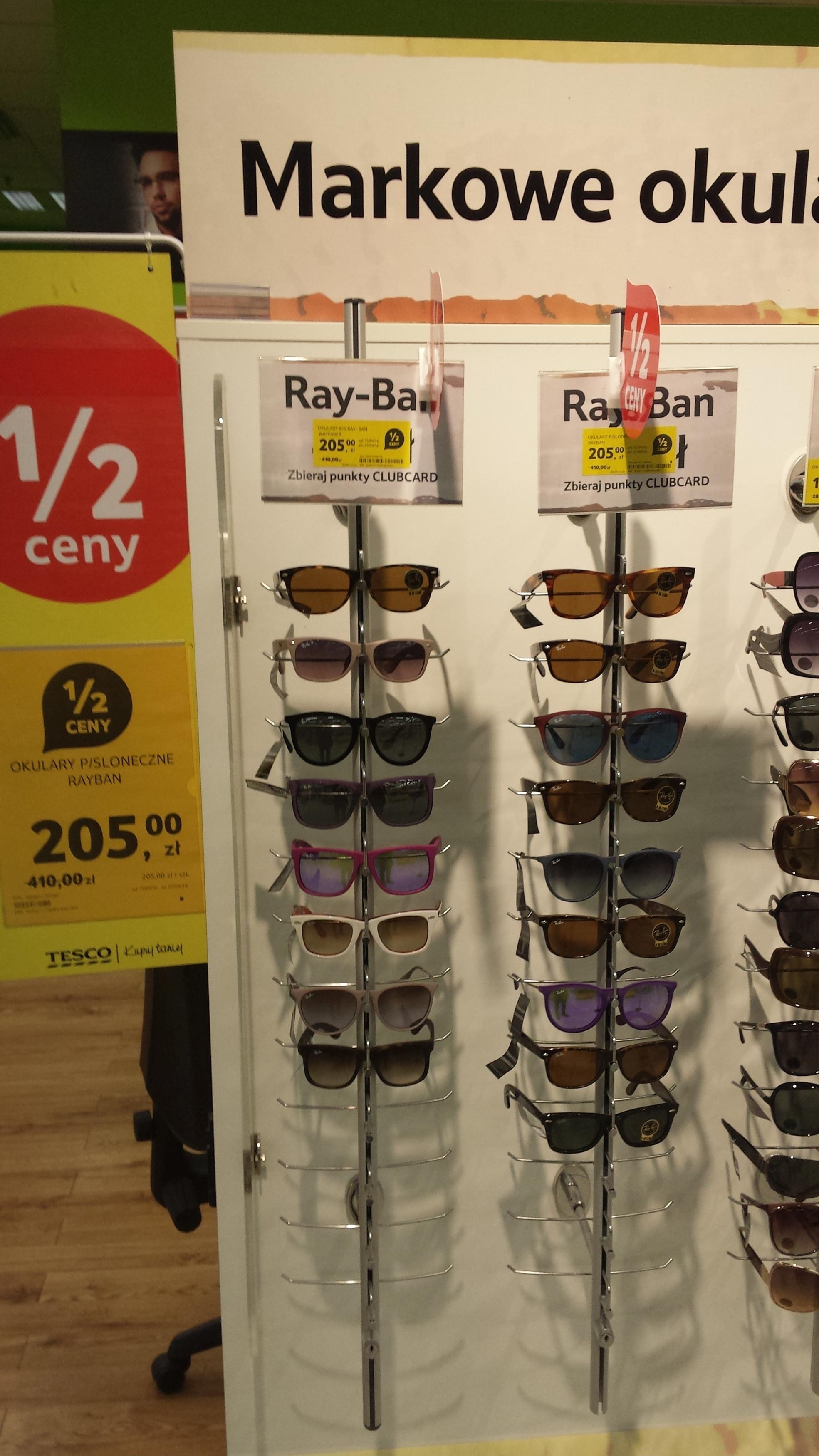 okulary przeciwsłoneczne Ray Ban -50% @Tesco lokalnie