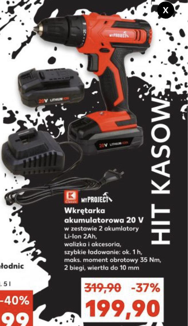 Wkrętarka akumulatorowa 20V MYPROJECT + 2 akumulatory - Kaufland