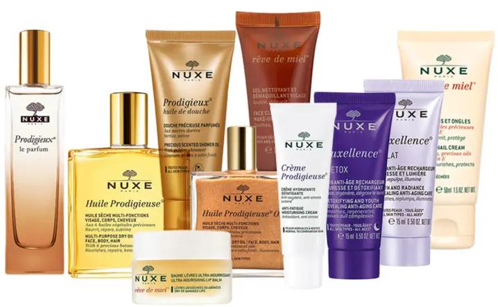 Nuxe różne zestawy kosmetyków na Limango (krótka data ważności)