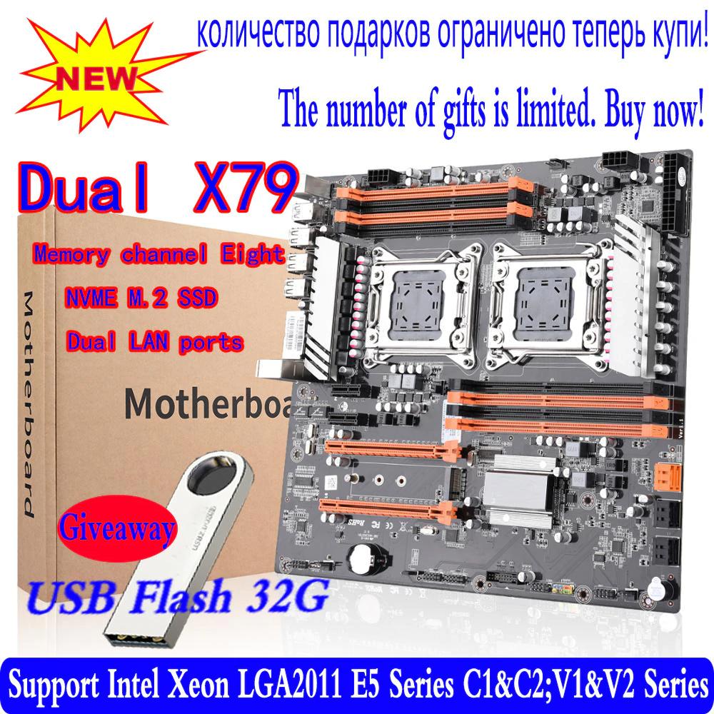 Płyta główna X79 dual CPU płyta LGA 2011 E-ATX USB3.0 SATA3 PCI-E 3.0 MVME 256GB Ram $115,62 (możliwe $100,62 )gratis pendrive warty20zł