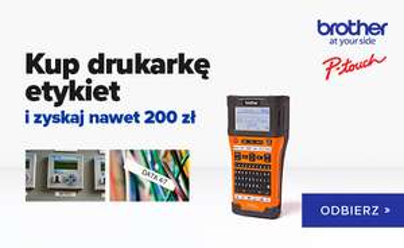 """Zwrot 100/150/200zł przy zakupie drukarek etykiet Brother dla """"Elektryków"""""""