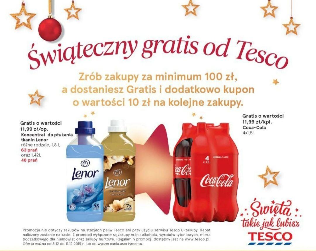 Świąteczny gratis od Tesco+ kupon o wartości 10 zł na następne zakupy!