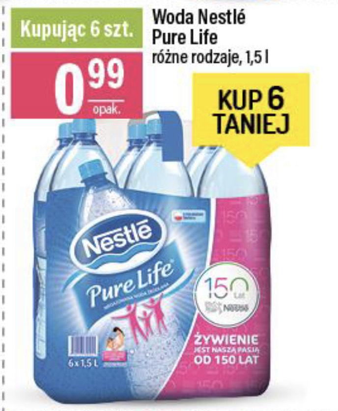 Woda Nestle Pure Life 1.5L 99gr/szt. przy zakupie 6-paku @Mila