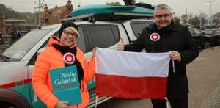 Setki polskich Flag z okazji 2 maja/Gdynia/Wejherowo