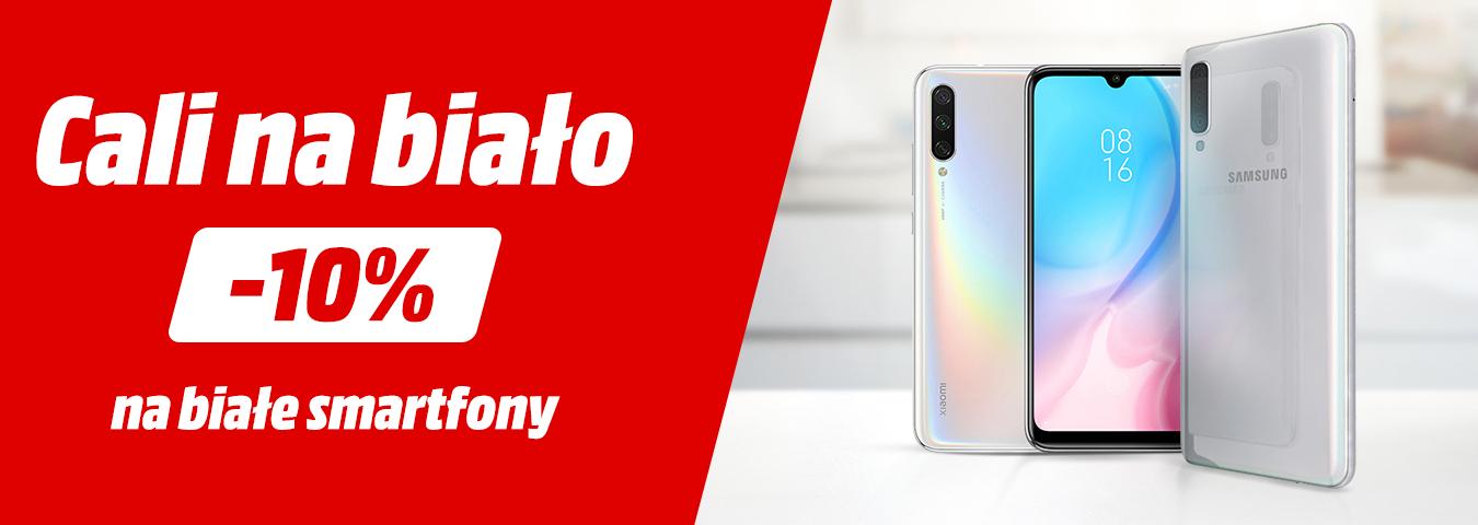 10% rabatu na wybrane białe smartfony @ Media Markt