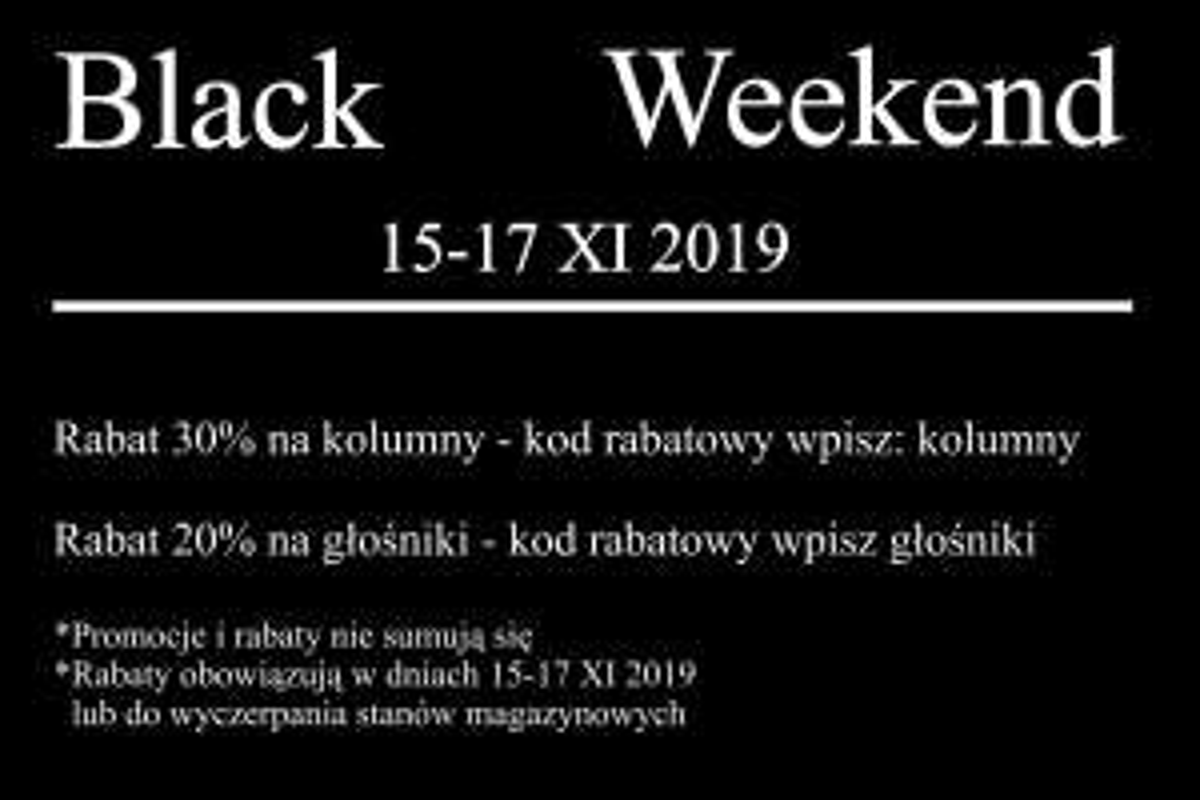 Kolumny STX 30% taniej na Black Friday