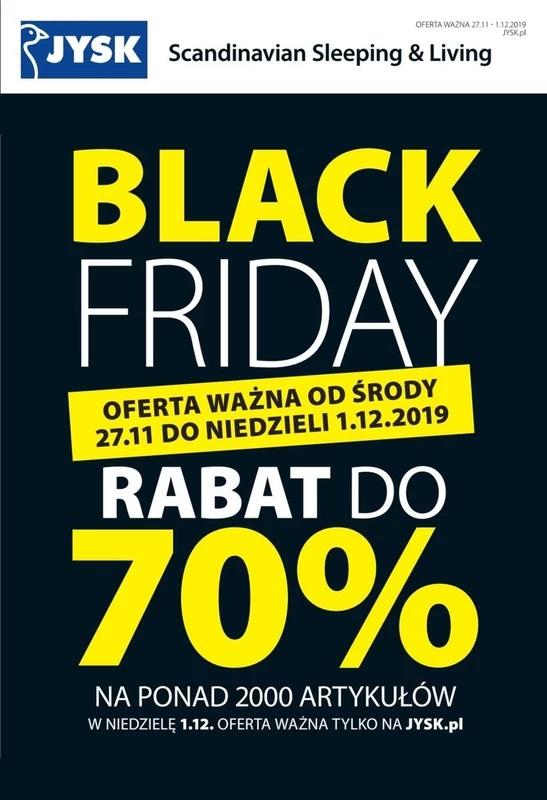 Jysk - Black Friday - Rabat do 70%. Kołdra z puchu gęsiego za 350zł. z 1199zł. Więcej szczegółów w opisie okazji.