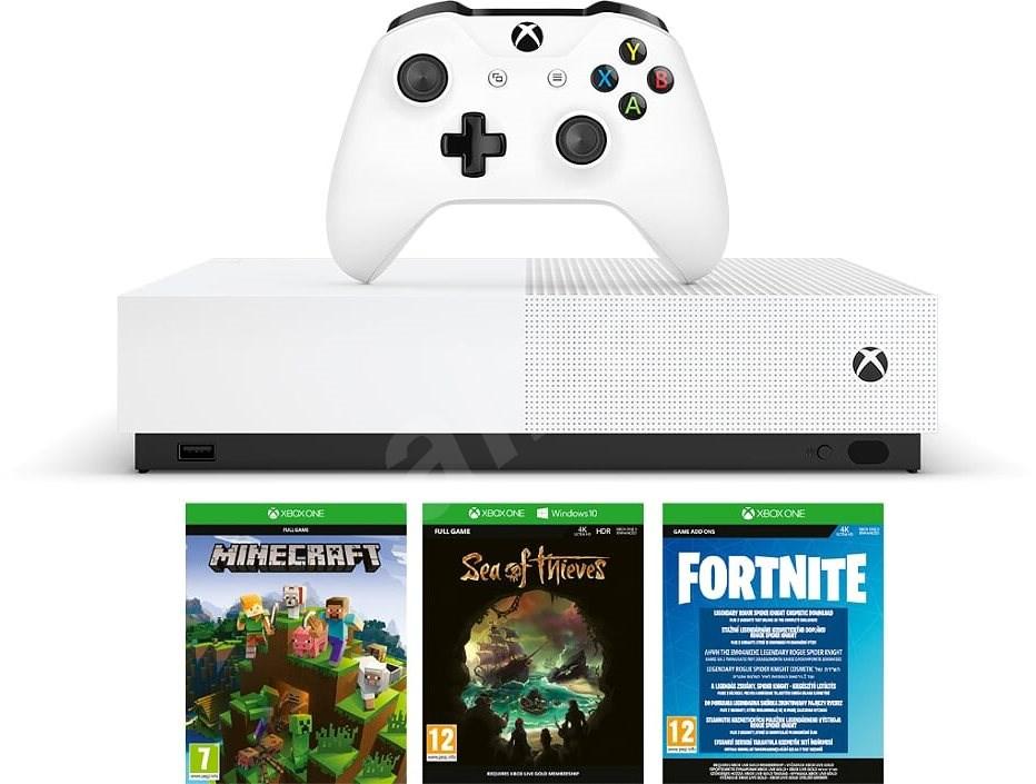 Xbox One S 1TB All-Digital +3gry3999CZK Z 5999 (Fortnite, Minecraft, Sea of Thieves ) od 9:00 (Czechy)