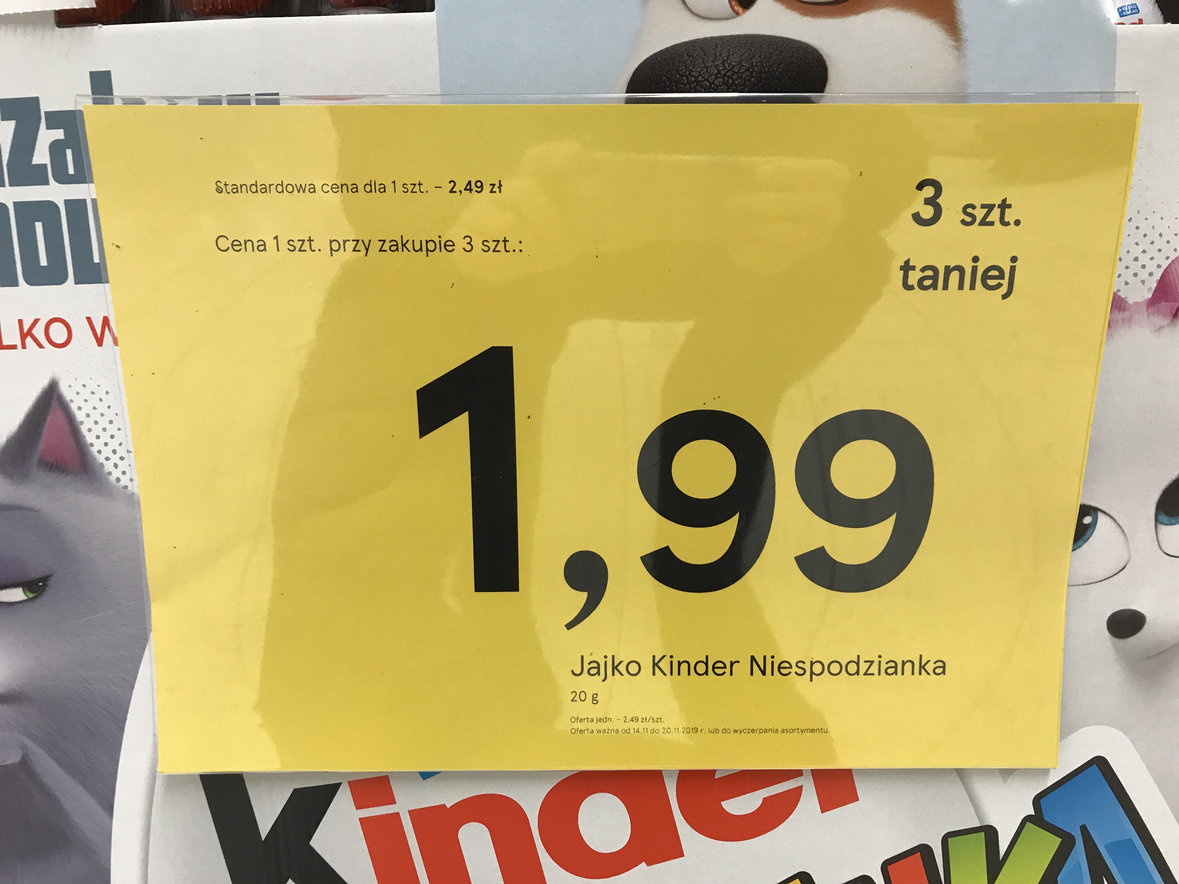 Kinder Jajko Niespodzianka- TESCO