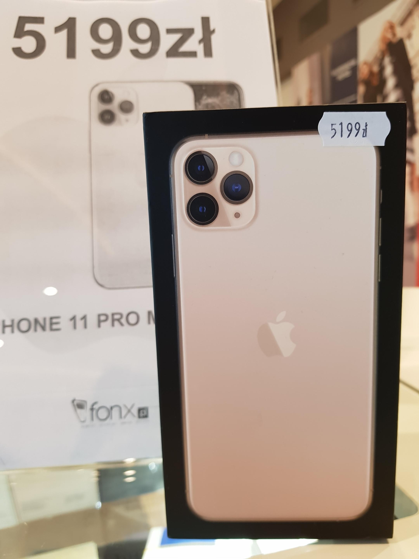 Iphone 11 Pro Max 64GB Złoty [Nowy] [Avenida] [Poznań] [Fonx]