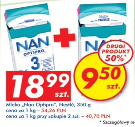 Mleko NAN 350g - drugie 50% taniej @ Auchan