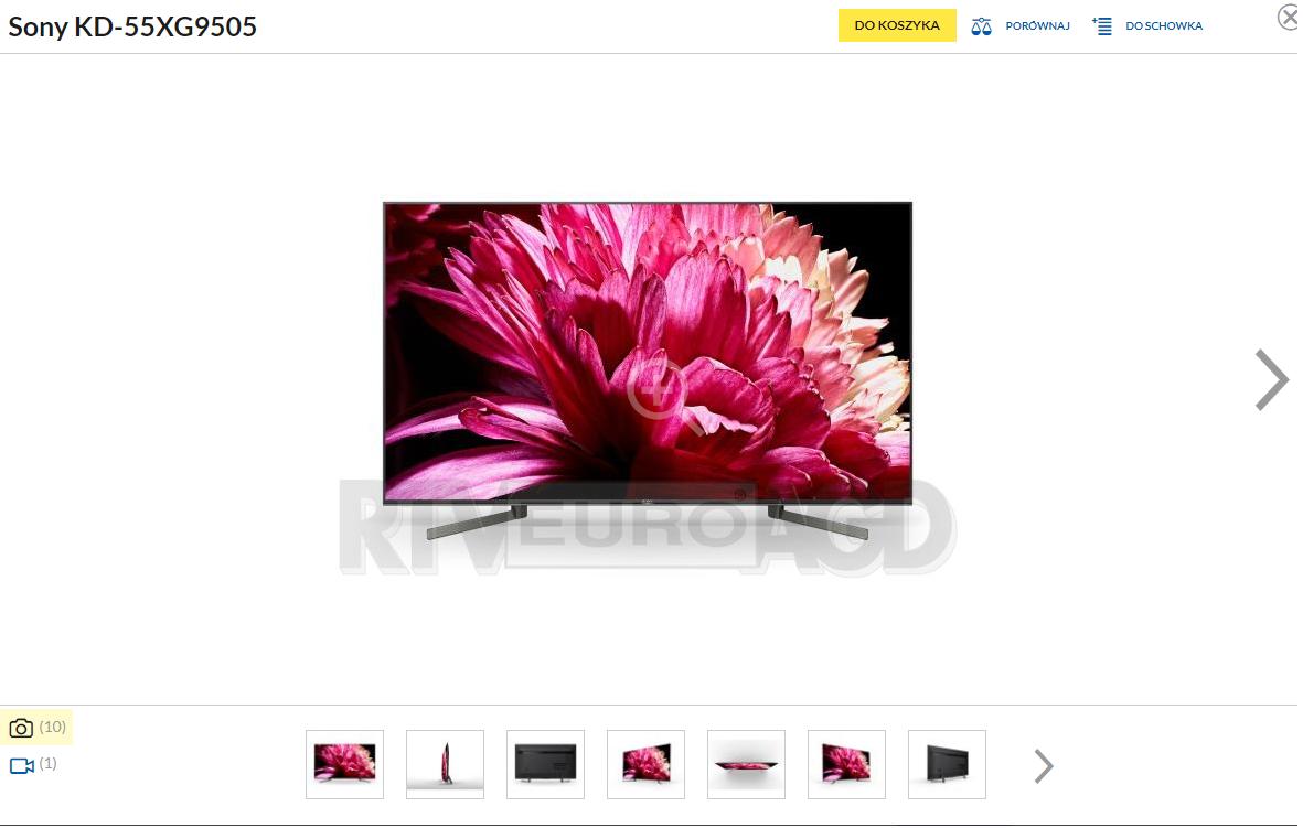 Telewizor Sony KD-55XG9505