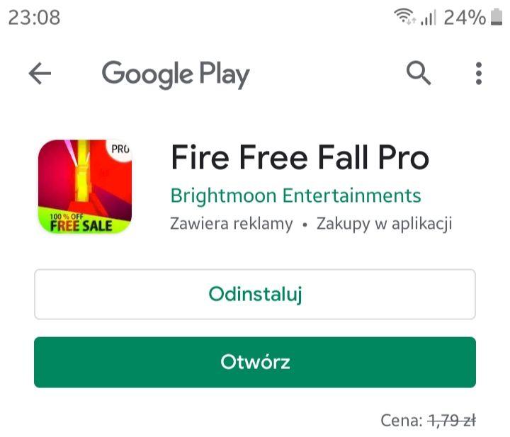 Fire Free Fall Pro/za free