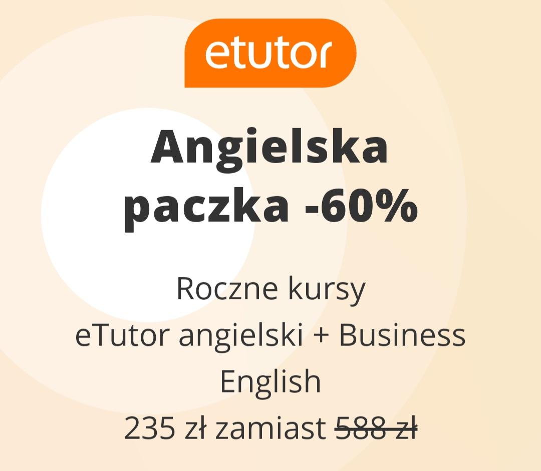 Etutor Angielski roczny kurs angielski + Business English