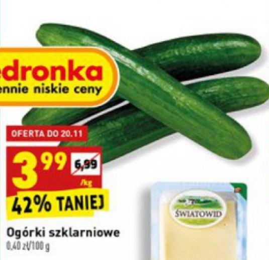 Ogórek zielony szklarniowy w Biedronce