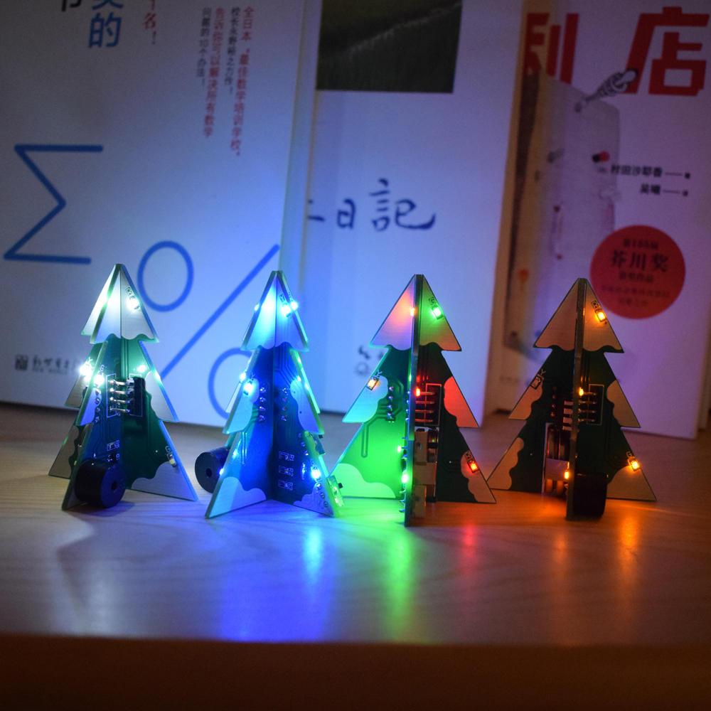 Geekcreit® 3D Mini zestaw DIY Kolorowa choinka świąteczna STEREO
