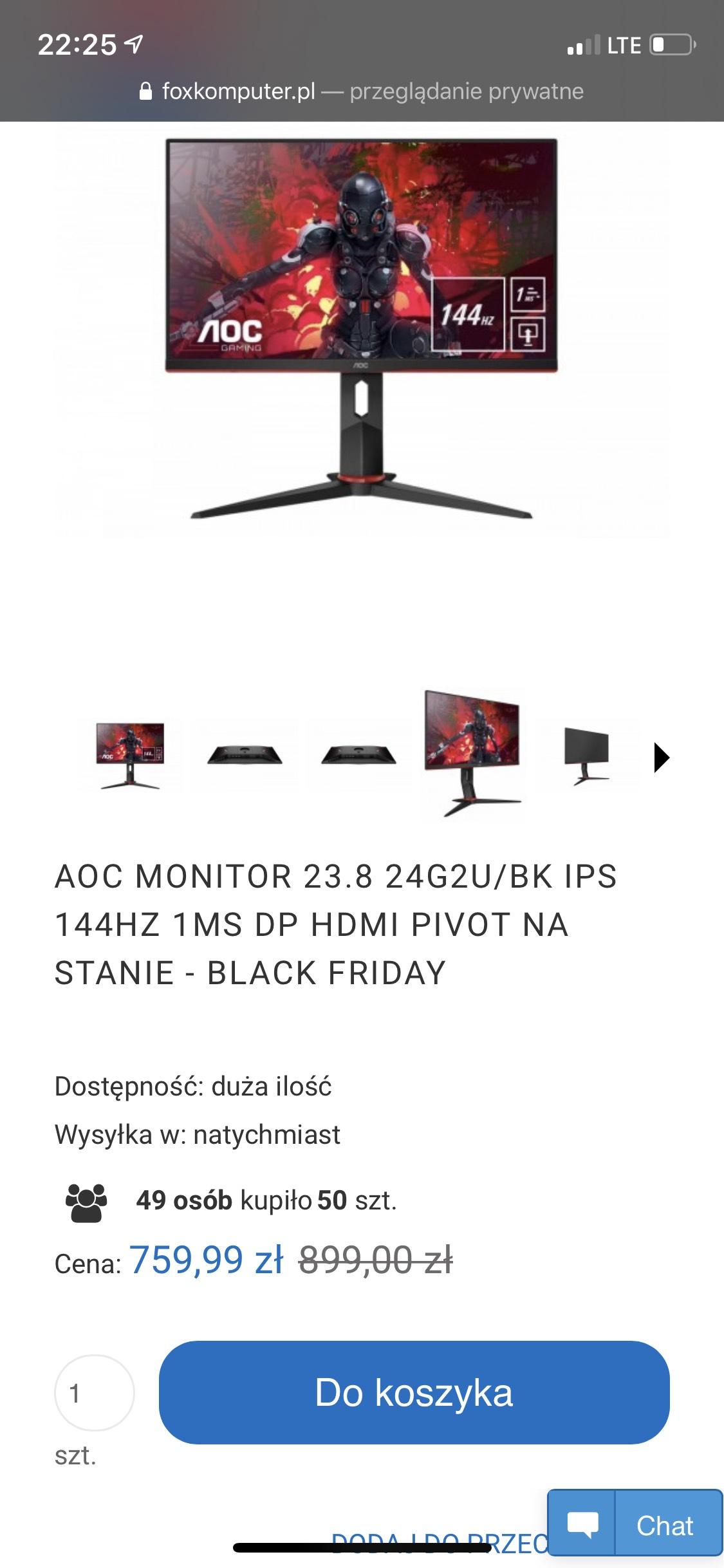 Monitor AOC 23.8 24G2U