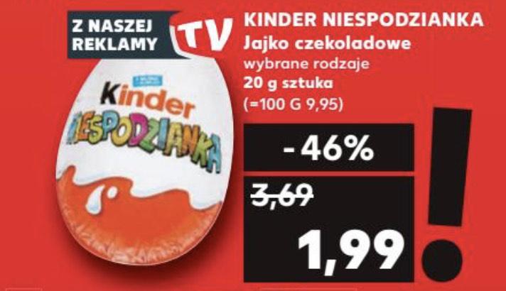 Jajko kinder niespodzianka 1,99zł/szt. - Kaufland