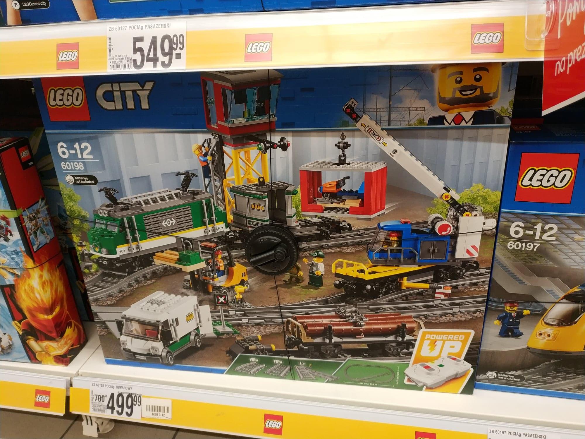 LEGO CITY POCIĄG TOWAROWY 60198 AUCHAN WWA OKĘCIE