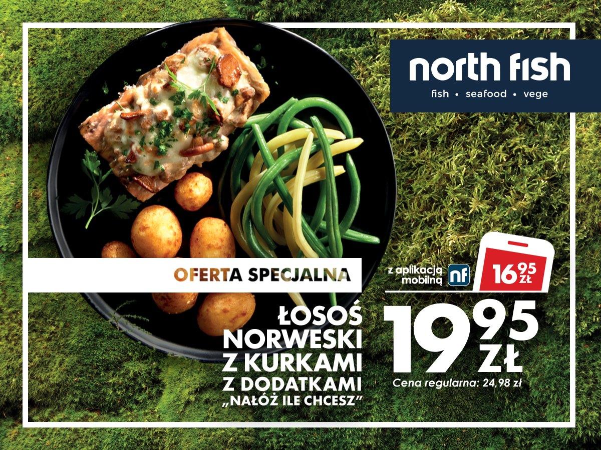 """[North Fish] Łosoś norweski z kurkami i dodatkami """"Nałóż ile chcesz"""""""