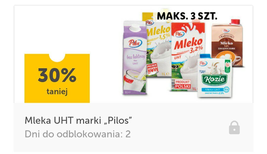 -30% na Mleko UHT z aplikacją Lidl