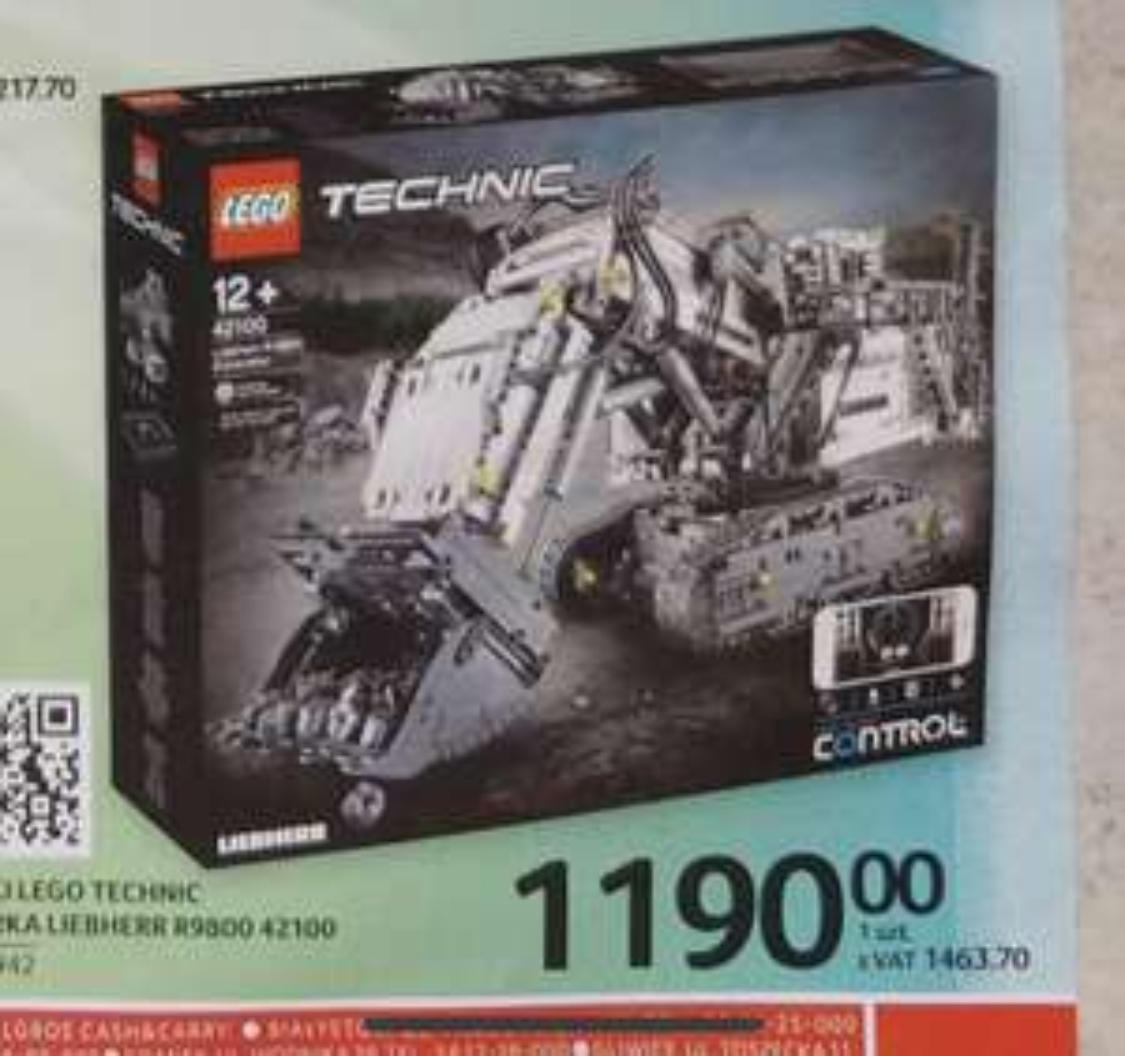 Zestaw Lego Technic 42100 w Selgros