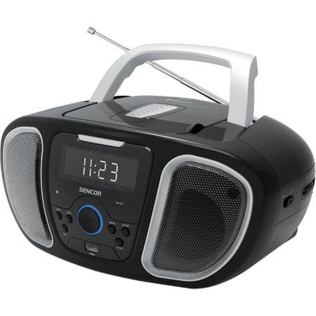 Radioodtwarzacz SENCOR SPT 3800 CD, Stereo, 4W, BT, USV, zegar, antena, z pilotem